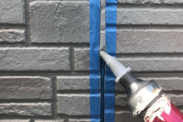 外壁塗装作業(シーリング打ち替え)