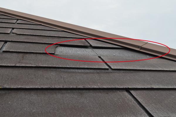 屋根塗装・葺き替え(剥がれ)